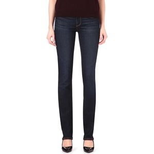 Paige Skyline Straight Leg Stretch Denim Jeans